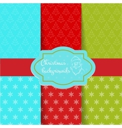 Set of Christmas pattern vector image