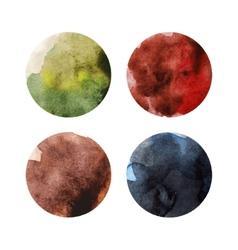 Set of colorful watercolor circles vector image vector image