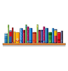 A wooden shelf with books vector image vector image