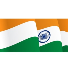 Background with waving indian flag vector