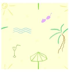 Beach seamless vector image