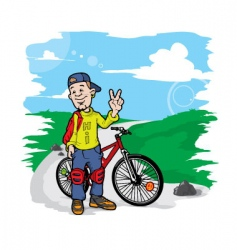 bicycle boy vector image
