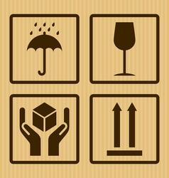 Cardboard symbols vector
