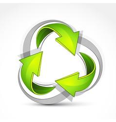 green recycling symbol vector image