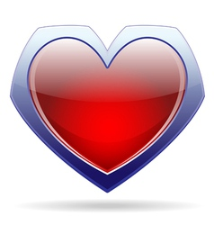 heart sign vector image vector image
