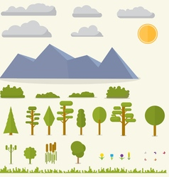 Landscape elements vector image vector image