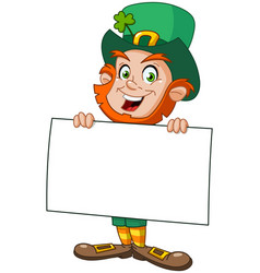 leprechaun with sign vector image