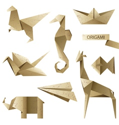 old-fashioned origami set vector image vector image
