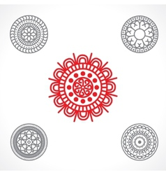 round ornament vector image vector image