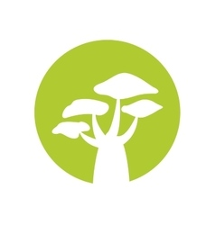 tree plant hand drawing isolated icon vector image vector image