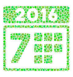 2016 week calendar mosaic icon of circles vector image