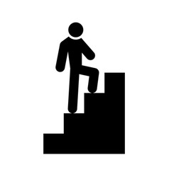 A man climbing stairs vector