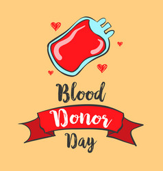 Art of blood donor day doodles vector