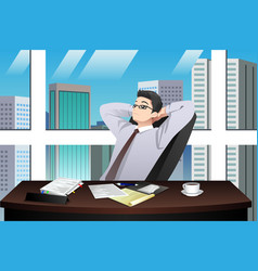 asian chinese businessman vector image