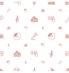 Audio icons pattern seamless white background vector