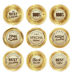 badges and labels quality product vector image