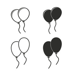 Balloon icon set vector