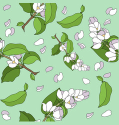 blooming branch seamless pattern vector image
