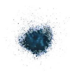 Blue blot vector