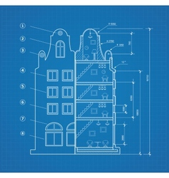 Blueprint facility vector