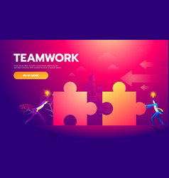 business teamwork concept two businessmen vector image