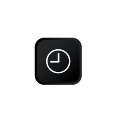 Clock icon modern button for web or appstore vector
