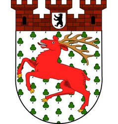 Coat of arms of tiergarten in berlin germany vector