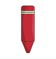 color crayon isolated icon vector image