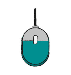 Computer mouse icon image vector