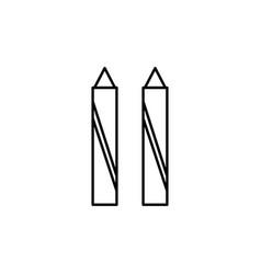 Crayon icon vector