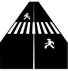 Crosswalk icon vector