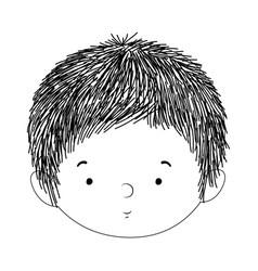 Cute baboy face design vector