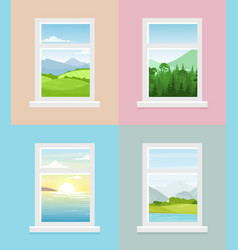 different window views vector image