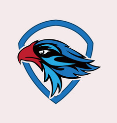 Eagle head sport logo vector