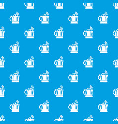 Electric kettle pattern seamless blue vector