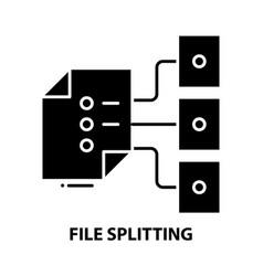 File splitting icon black sign vector