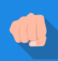 fist bump icon in flat style isolated on white vector image