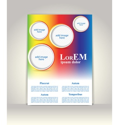 Flyer brochure or magazine cover template vector image