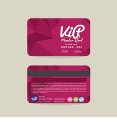 Front And Back Modern Geometric Purple VIP Member vector