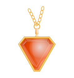 garnet jewelry mockup realistic style vector image