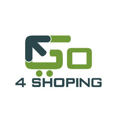 Go shopping logo design template vector