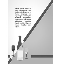 Gray bottle with glasses dark infographics vector