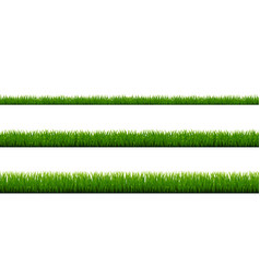 Green grass border collection and white background vector
