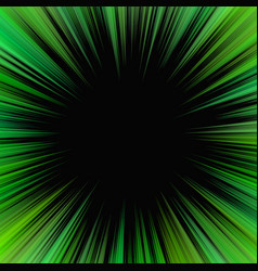 green psychedelic abstract star burst background vector image