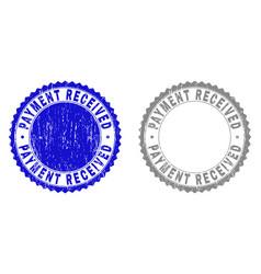 Grunge payment received textured stamp seals vector