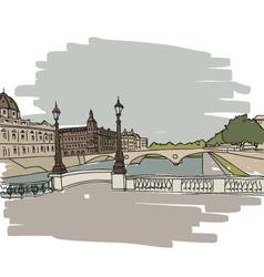 Hand drawn Paris cityscape vector image