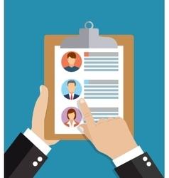 Human resources employment team management flat vector