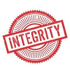 Integrity stamp rubber grunge vector