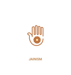 Jainism concept 2 colored icon simple line vector
