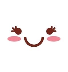 Kawaii face emoticon icon vector